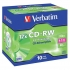 Verbatim CD-RW Rewritable Disk Cased 8x-12x Speed 80min 700Mb Ref 43148 [Pack 10]