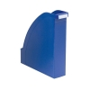 Magazine File Extra Capacity with Adjustable Spine Label Holder A4 Blue