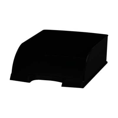 Letter Tray Jumbo Deep Sided with 2 Label Positions Black