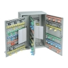 Key Cabinet Steel with Lock 300 Colour Tags 300 Numbered Hooks Grey