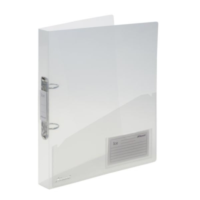 Rexel Ice Ring Binder Polypropylene 2 O-Ring 25mm A4 Translucent Clear Ref 2102045 [Pack 10]