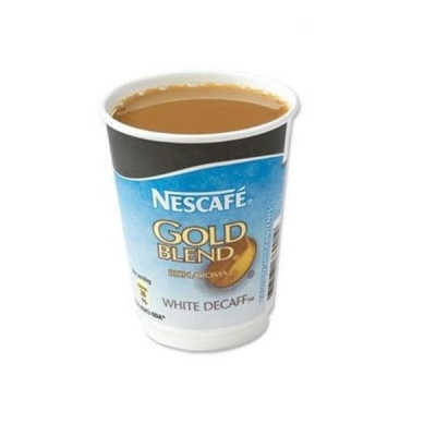 Nescafe & Go Gold Blend Decaffeinated White Coffee Foil-sealed Cup for Machine Ref 12033784 [Pack 8]