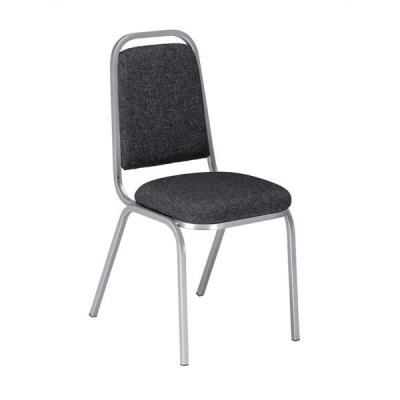 Trexus Banqueting Chair Upholstered Stackable Seat W390xD390xH460mm Black with Black Frame