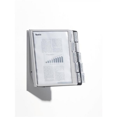 Display Wall Unit Complete 10 Index Tabs with 5 Black and 5 Grey Panels A4
