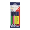 Staedtler Textsurfer Classic Highlighter Line Width 1-5mm Assorted Ref 364ABK4D [Pack 3 + 1 FREE]