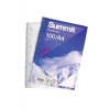Summit Notebook Wirebound Ruled Punched Perforated Margin 60gsm 100pp A4 Ref 100080157 [Pack 10]