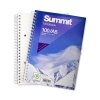 Summit Notebook Wirebound Ruled Punched Perforated Margin 60gsm 100pp A5 Ref 100080190 [Pack 10]