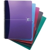 Oxford Office Notebook Wirebound Polypropylene A4 Random Colour Ref 100101918 [Pack 5]