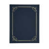 Certificate Covers Linen Finish Heavyweight Card Stock 240g Blue [Pack 5]