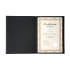 Certificate Covers Linen Finish Heavyweight Card Stock 240g Black [Pack 5]