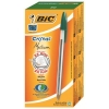 Bic Cristal Ball Pen Clear Barrel 1.0mm Tip 0.4mm Line Green Ref 8373629 [Pack 50]