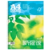 Silvine Notebook Twin Wirebound FSC Paper Perforated 160pp A4 Ref FSCTW80 [Pack 5]
