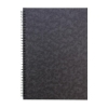 Notebook Sidebound Ruled 90gsm 120 Pages A4 Black [Pack 10]