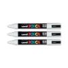 uni Posca PC5M Marker Medium Tip Line Width 1.8-2.5mm White Ref 152637000 [Pack 12]