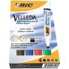 Bic Velleda 1751/1754 Whiteboard Marker Chisel Tip Line Width 3.7-5.5mm Assorted Ref 904950 [Pack 4]