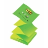 Post-it Z-Notes 76x76mm Neon Green Ref R330NAG [Pack 12]