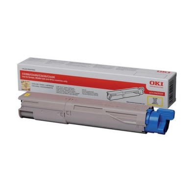 OKI Laser Toner Cartridge Page Life 1500pp Yellow Ref 43459433