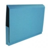 Guildhall Document Wallet Heavyweight Full Flap 420gsm 35mm W356xH254mm Blue Ref 211/8000Z [Pack 25]