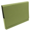 Guildhall Document Wallet Heavyweight Full Flap 420gsm 35mm W356xH254mm Green Ref 211/8002Z [Pack 25]