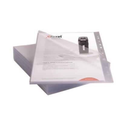 Rexel Anti Slip Folders Cut Flush Polypropylene High Grip 150micron Clear Ref 2102211 [Pack 25]