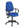 Trexus Lumb-Air High Back Operators Armchair Back H500mm W460xD460xH440-580mm Blue Ref SP9080BL