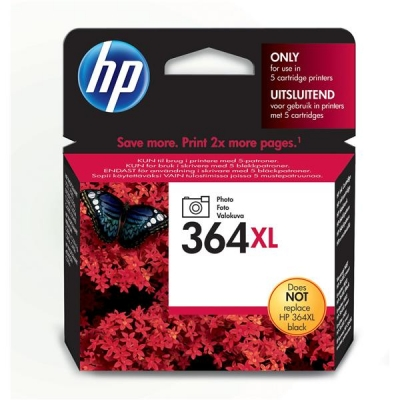 Hewlett Packard [HP] No. 364XL Inkjet Cartridge Page Life 290 photos Photo Black Ref CB322EE #ABB