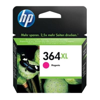 Hewlett Packard [HP] No. 364XL Inkjet Cartridge Page Life 750pp Magenta Ref CB324EE #ABB