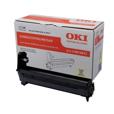 OKI Laser Drum Unit Page Life 20000pp Yellow Ref 43870021