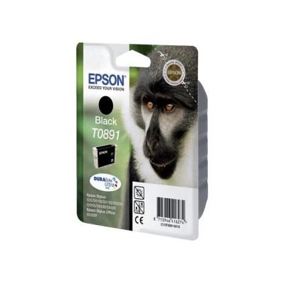 Epson T0891 Inkjet Cartridge DURABrite Monkey Page Life 170-180pp Black Ref C13T08914011