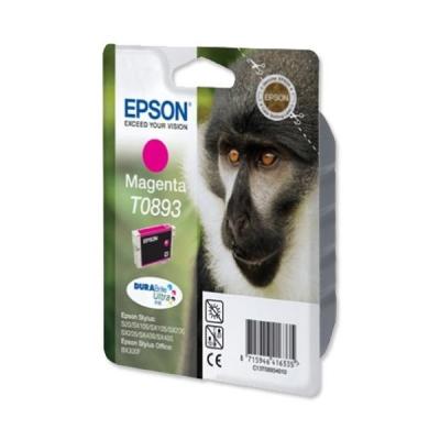 Epson T0893 Inkjet Cartridge DURABrite Monkey Page Life 135-155pp Magenta Ref C13T08934011