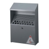 Durable Ash Bin Wall-mounted Capacity 4 Litres W310xD107xH450mm Stainless Steel Ref 3334/23
