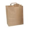 Paper Carrier Bags Flat Handle Brown [Pack 250]