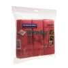 Wypall Microfibre Cleaning Cloths for Dry or Damp Multisurface Use Red Ref 8397 [Pack 6]