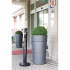 Rubbermaid Smokers Pole Ash Bin Aluminium Weather-resistant Base Diameter 324mm Height 1041mm Ref R1BK