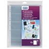Elba Business Card Pocket Multipunched A4 Clear Ref 100207015 [Pack 10]