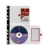 Concord Ring Binder Stud Wallet Multipunched For 2 CDs Clear Ref 7135-PFL [Pack 5]