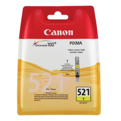 Canon CLI-521Y Inkjet Cartridge Yellow Ref 2936B001AA