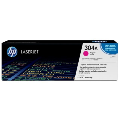 Hewlett Packard [HP] No. 304A Laser Toner Cartridge Page Life 2800pp Magenta Ref CC533A
