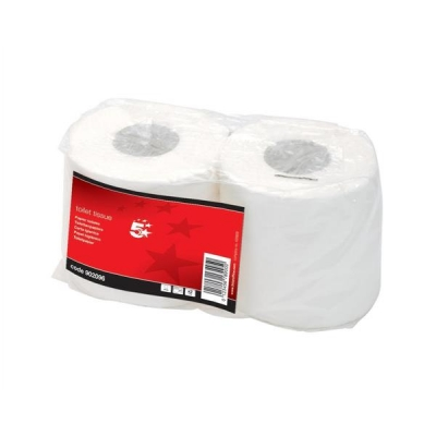 5 Star Toilet Tissue 2 Rolls of 320 Sheets White [Pack 36]