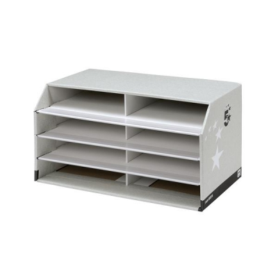 5 Star Document Sorter with 8 Compartments Grey