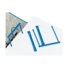 5 Star Filing Clip Polypropylene Blue [Pack 10]