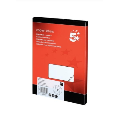 5 Star Labels Laser and Inkjet 10 per Sheet 105x58mm White [1000 Labels]