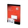 5 Star Addressing Labels Inkjet 8 per Sheet 99.1x67.7mm White [800 Labels]
