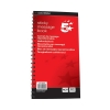 5 Star Telephone Message Book Wirebound Carbonless Sticky 320 Notes 80 Pages 279x152mm