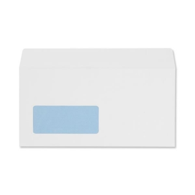 5 Star Envelopes Wallet Peel and Seal Window 100gsm White DL Ref 906608 [Pack 500]