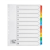 5 Star Maxi Index Extra-wide 150gsm Card with Coloured Mylar Tabs 1-10 A4 White