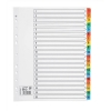 5 Star Maxi Index Extra-wide 150gsm Card with Coloured Mylar Tabs 1-20 A4 White