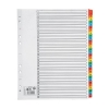 5 Star Maxi Index Extra-wide 150gsm Card with Coloured Mylar Tabs 1-31 A4 White