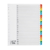 5 Star Maxi Index Extra-wide 150gsm Card with Coloured Mylar Tabs A-Z A4 White