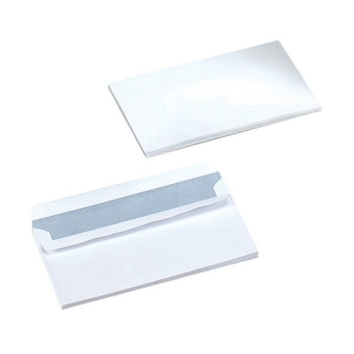5 Star Envelopes Wallet Press Seal 90gsm White DL [Pack 500]